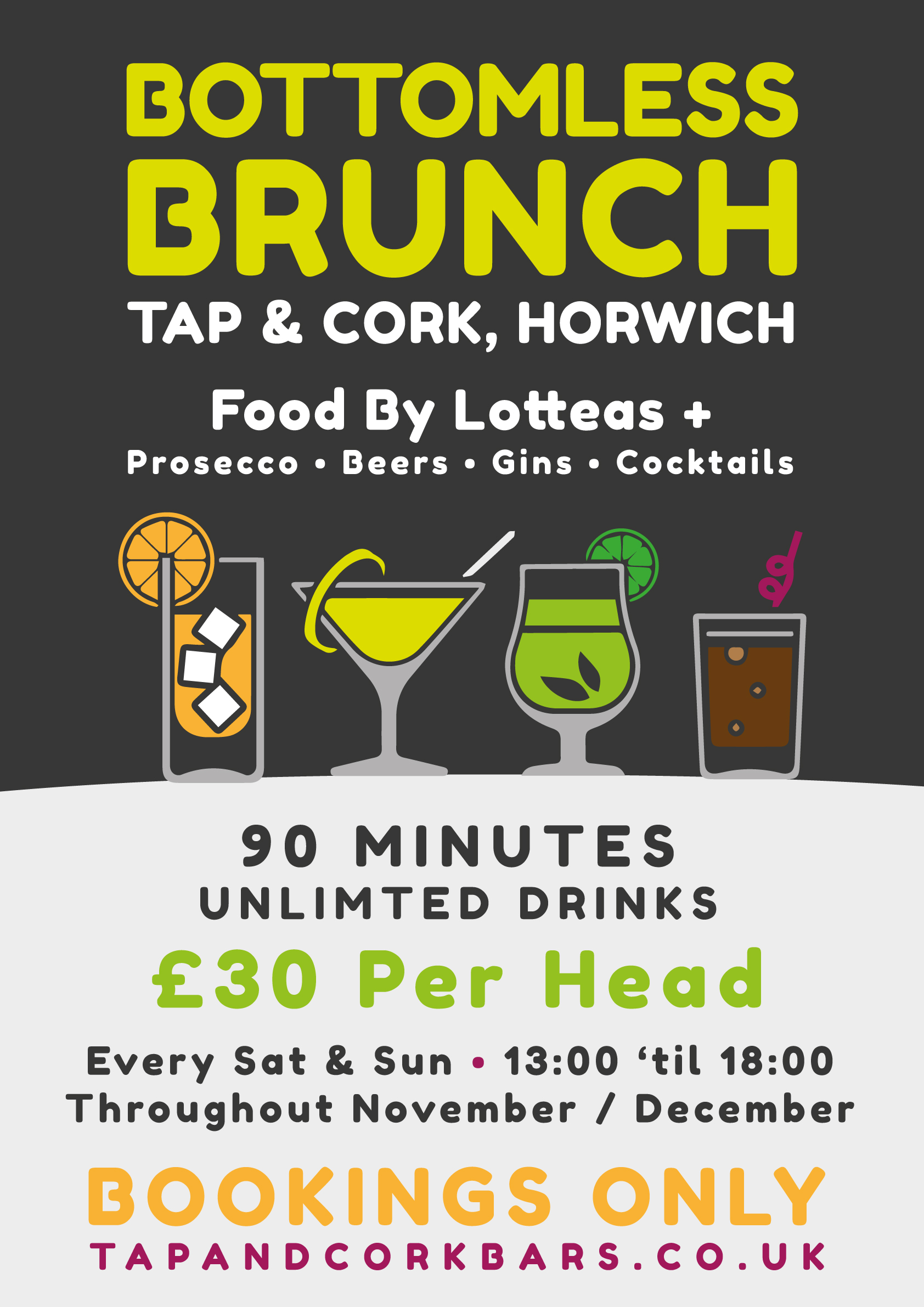 Bottomless Brunch at The Tap and Cork, Horwich
